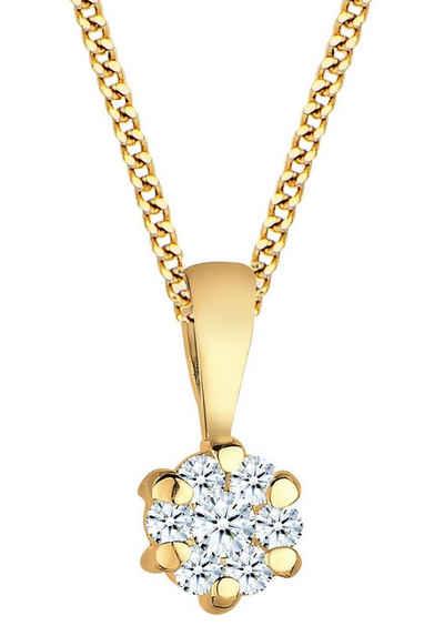 Elli DIAMONDS Kette mit Anhänger »Solitär, 0103220414«, mit Diamanten