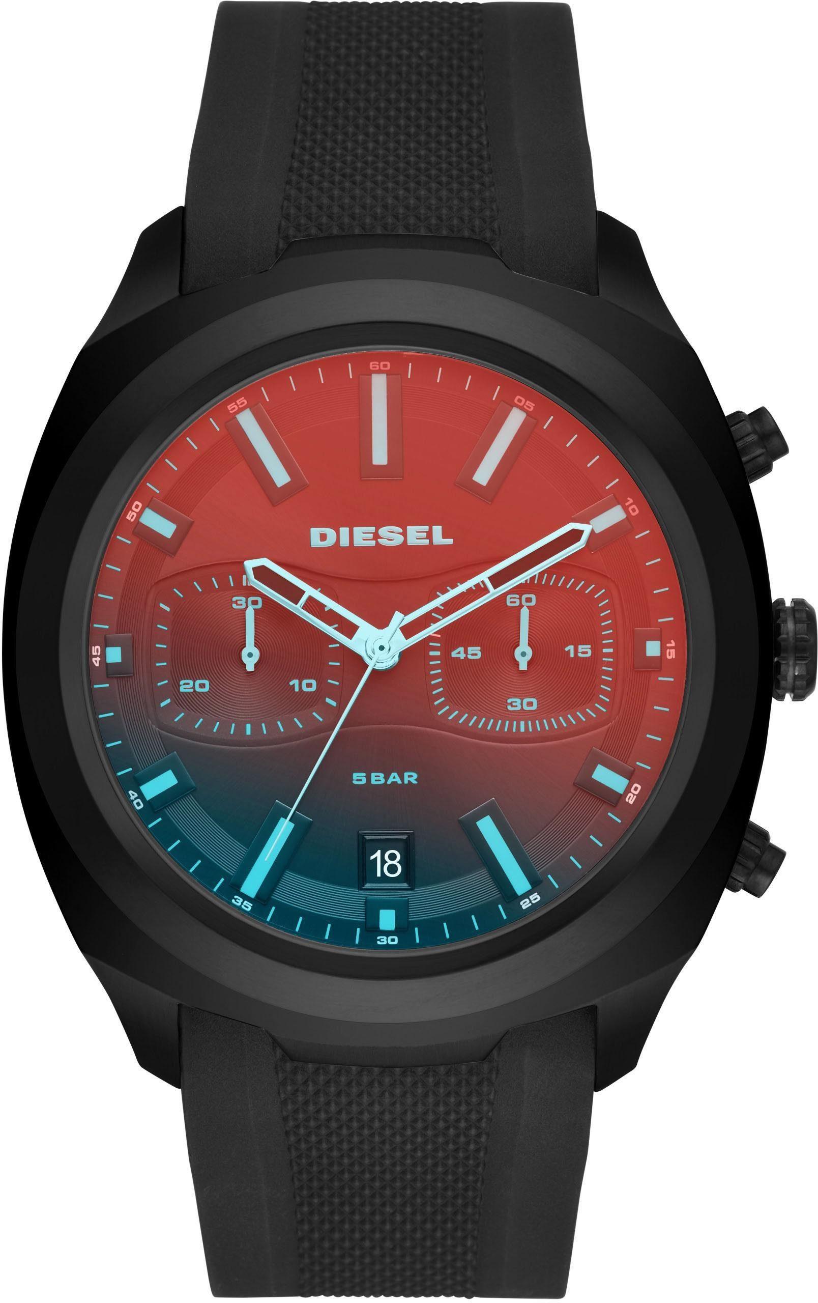 Diesel Chronograph »TUMBLER, DZ4493« mit irisierendem Mineralglas