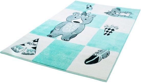 Kinderteppich »Bueno Kids 1516«, Carpet City, rechteckig, Höhe 13 mm, Teddy Indianer, Kurzflor