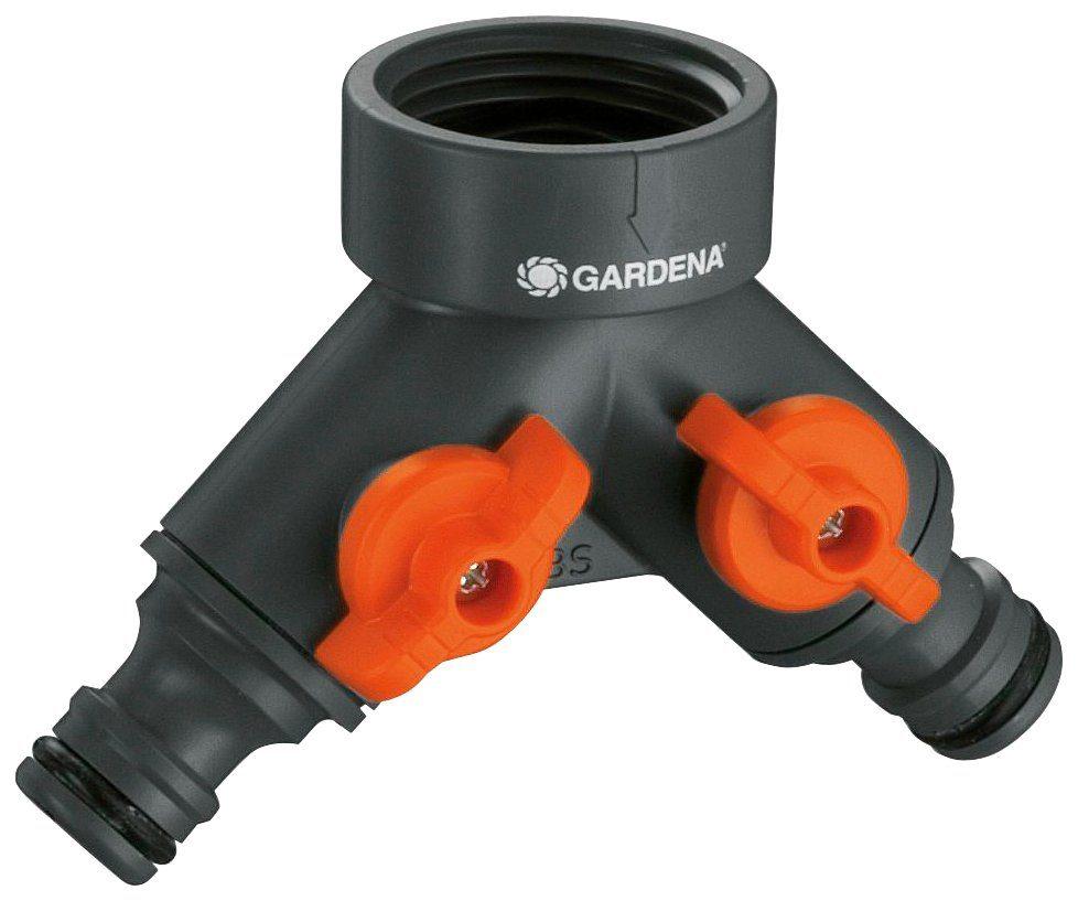 GARDENA 2-Wege-Ventil , für 21 mm (G 1/2)-Wasserhahn