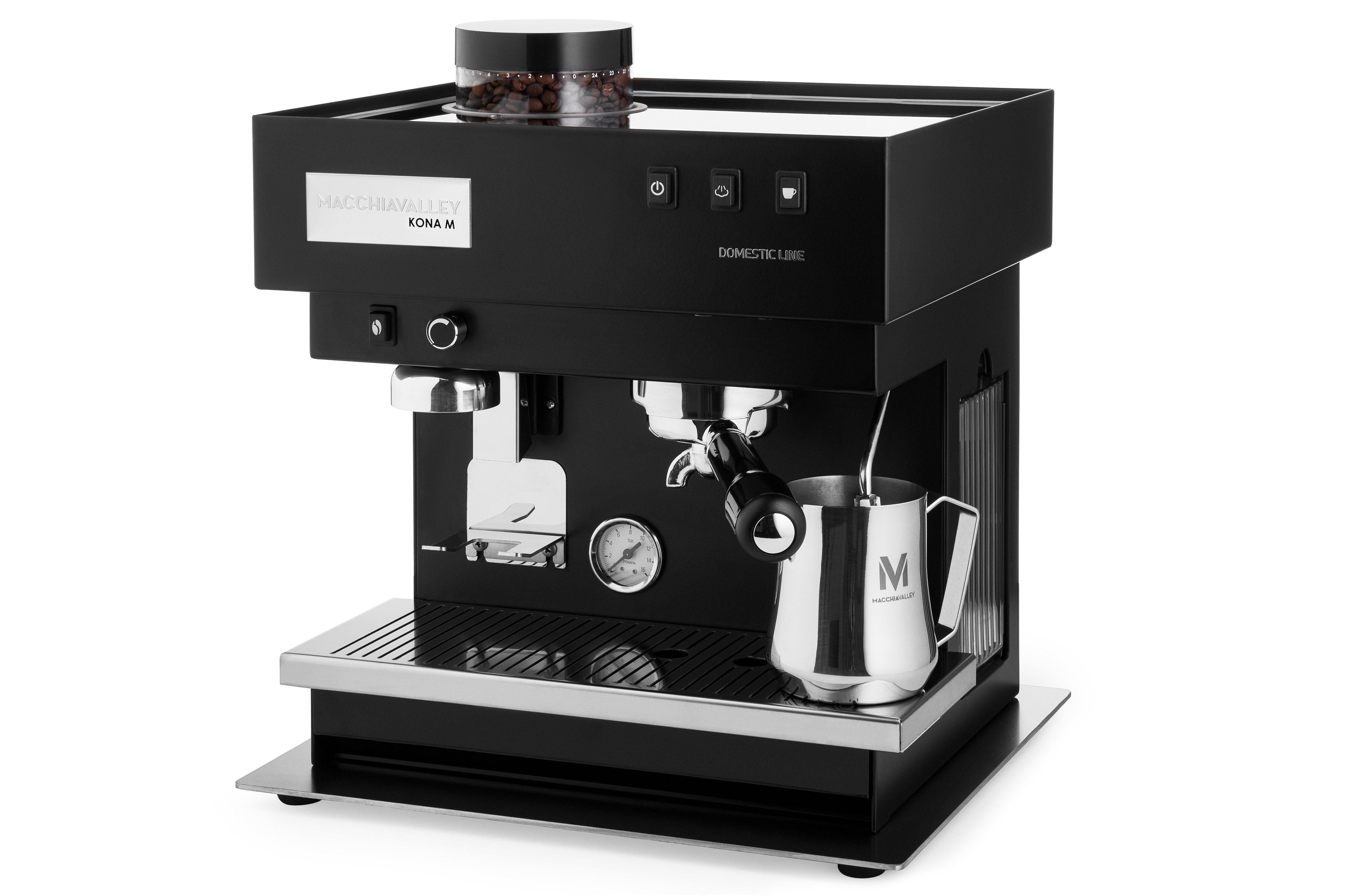 Macchiavalley Espressomaschine / Siebträgermaschine, integriertes Mahlwerk »KONA M«