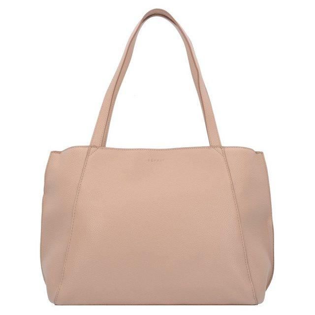 Damen Esprit Fran Shopper Tasche 32 cm braun | 04060469483253