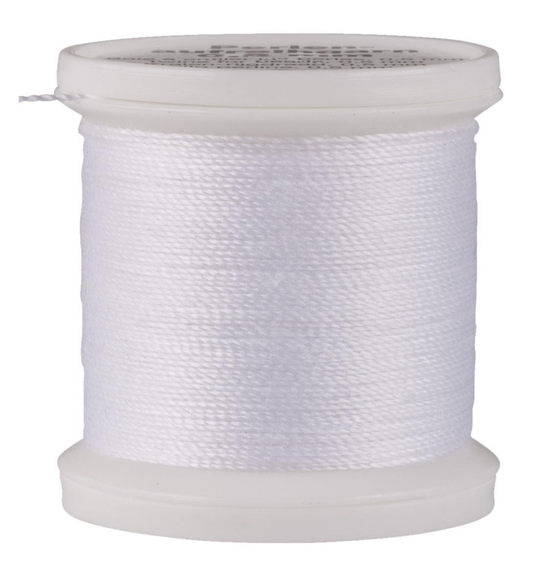 Perlen-Aufreihgarn, Ø 0,5 mm, weiß