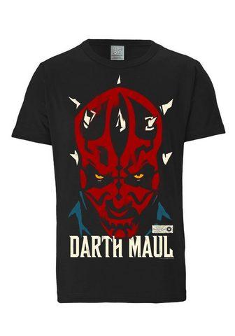LOGOSHIRT Marškinėliai su Darth Maul-Frontdruck ...