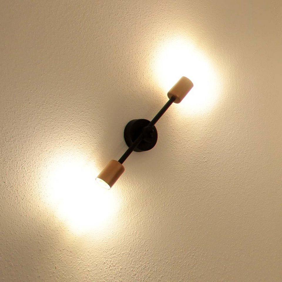 licht trend wandleuchte retrostick 2 flammig 37cm in kupfer online kaufen otto. Black Bedroom Furniture Sets. Home Design Ideas