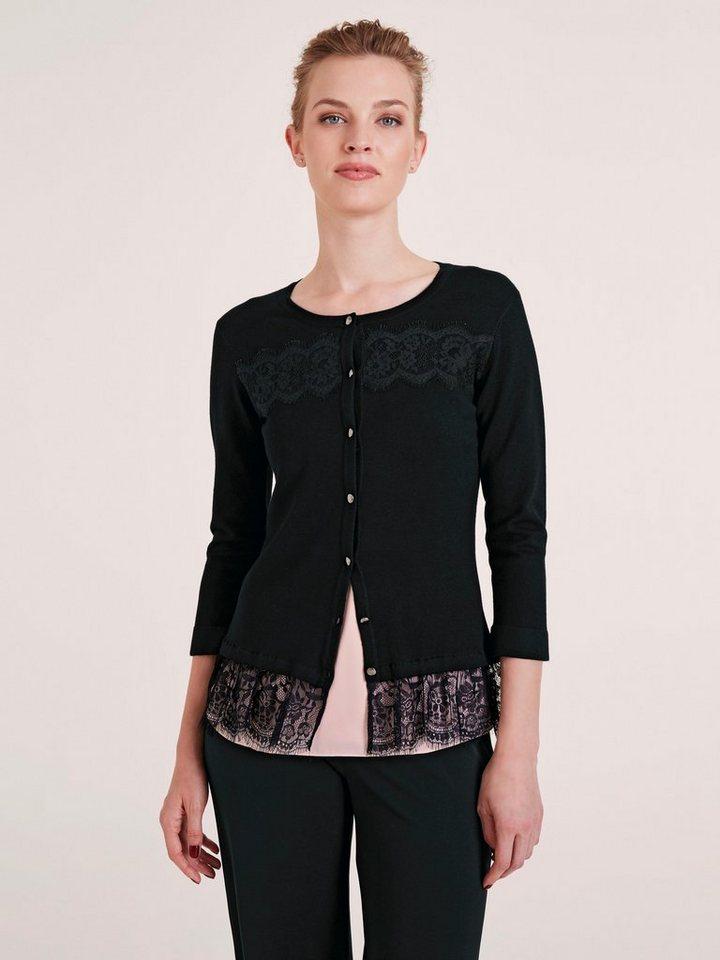 grau-schwarz-63-leinen Strickjacken für Damen online kaufen ... dc753d88860
