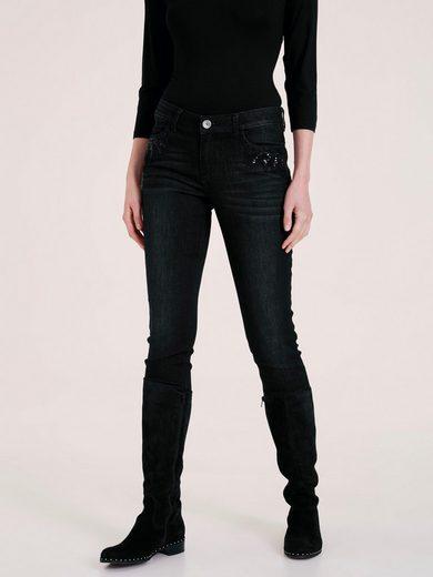 heine CASUAL Jeans mit Pailetten und Schmuckelementen