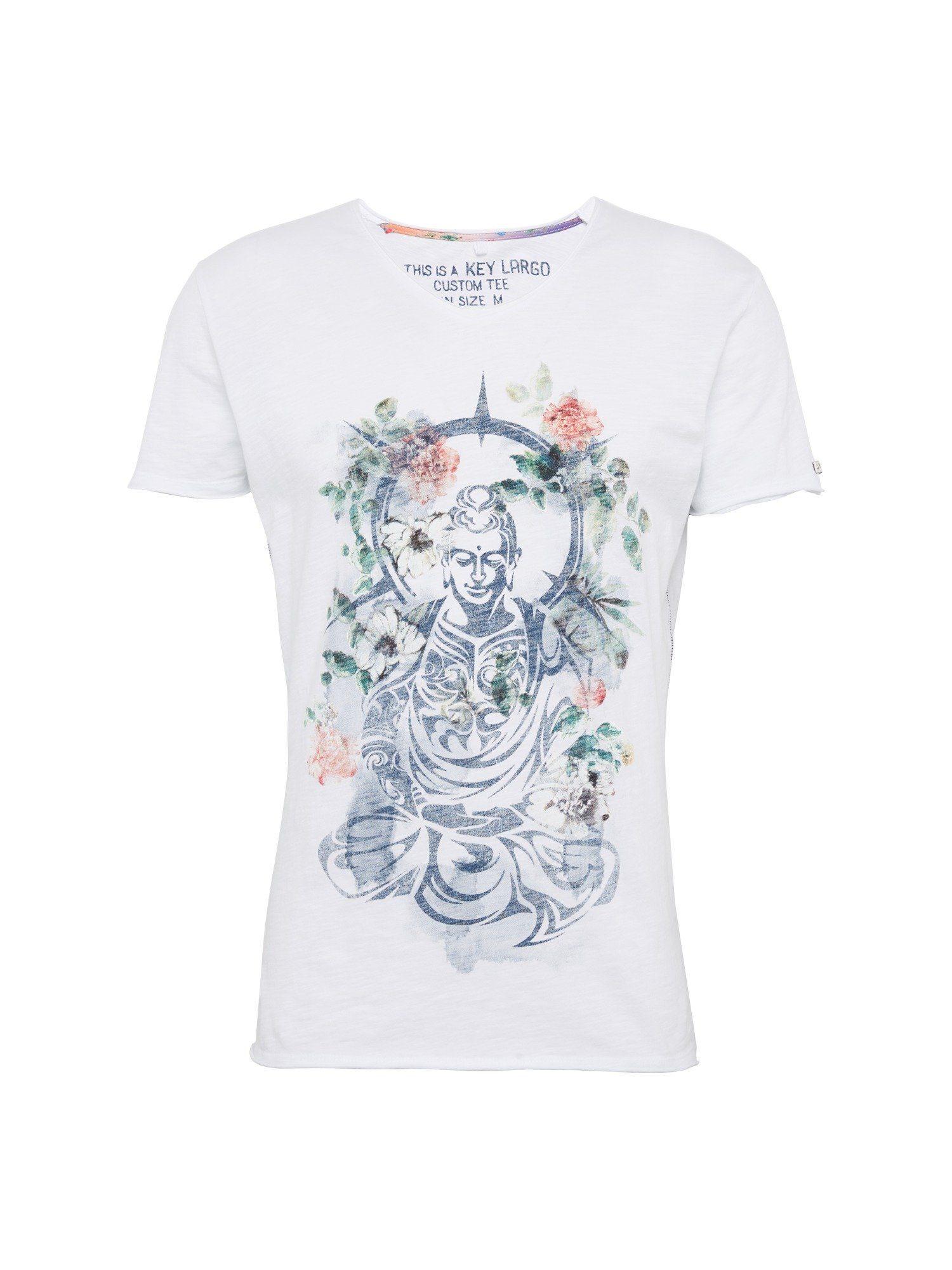 Kaufen neck« V Largo Rundhalsshirt Buddha »mt Key 76ybgf