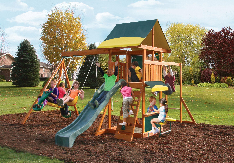 KidKraft® Spielturm aus Holz mit Klettergerüst und Schaukel, »Brookridge«