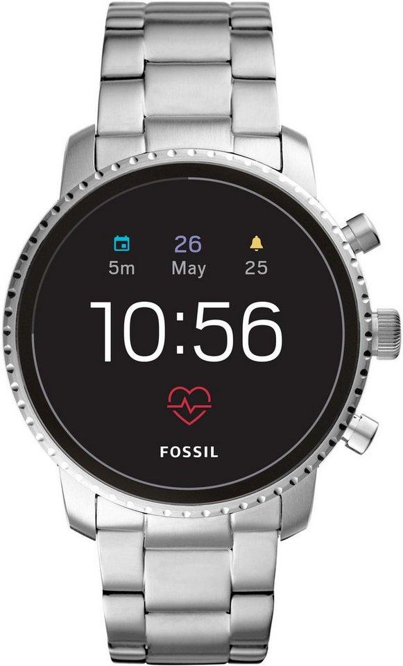 FOSSIL Q Q EXPLORIST HR, FTW4011 Smartwatch (Wear OS by Google, mit individuell einstellbarem Zifferblatt) | Uhren > Smartwatches | FOSSIL Q