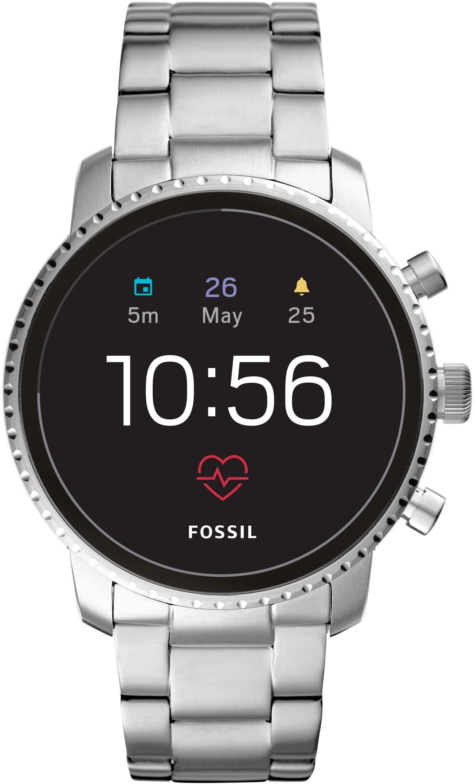 FOSSIL Q Q EXPLORIST HR, FTW4011 Smartwatch (Wear OS by Google, mit individuell einstellbarem Zifferblatt)