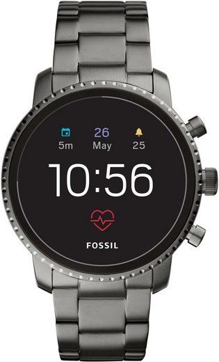 Fossil Smartwatches Q EXPLORIST HR, FTW4012 Smartwatch (Wear OS by Google, mit individuell einstellbarem Zifferblatt)