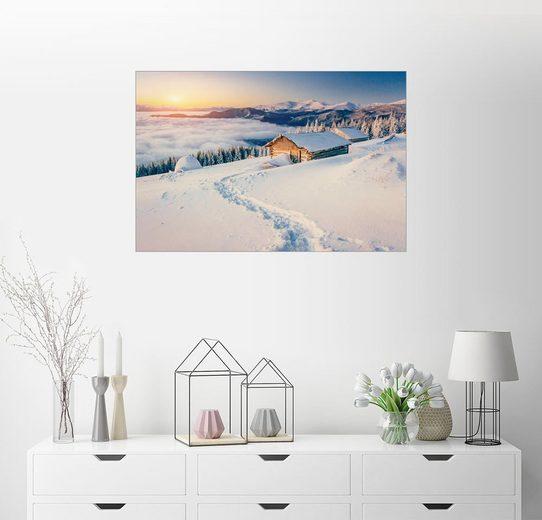 Posterlounge Wandbild »Rückzugsort in den Bergen«
