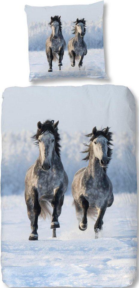 Bettwasche Snowhorses Good Morning Mit Pferde Motiv Online Kaufen Otto