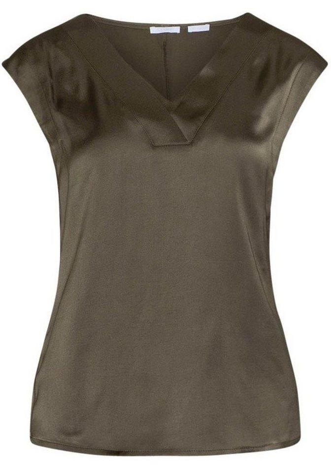 CLAIRE WOMAN Longtop schimmernde Viskose   Bekleidung > Tops > Longtops   Grün   CLAIRE WOMAN