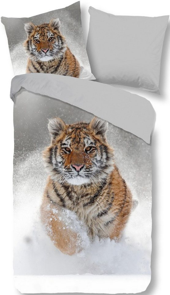 Wendebettwäsche Snow Tiger Good Morning Mit Tollem Tiger Motiv