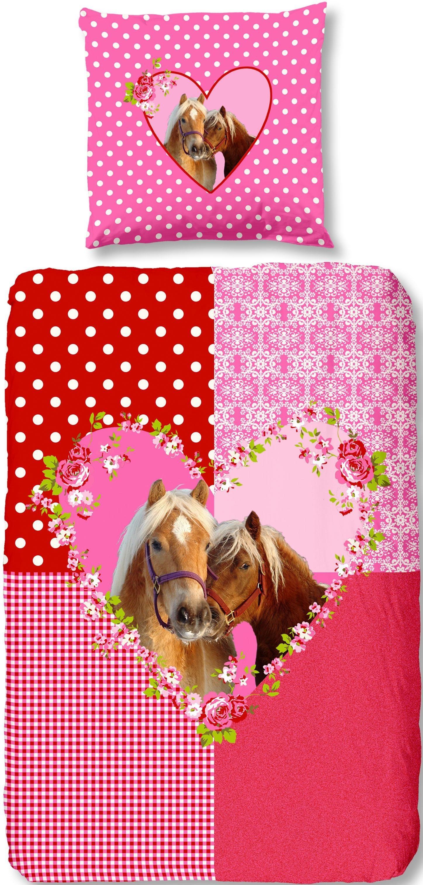 Bettwäsche »Sweet Horse«, , mit Pferde Motiv