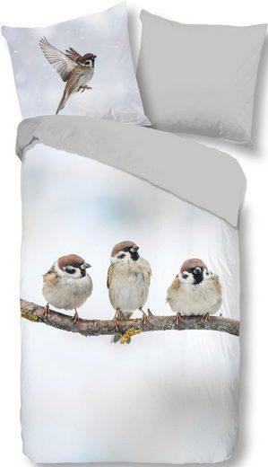 Wendebettwäsche »Spearow«, good morning, mit kleinen Vögeln