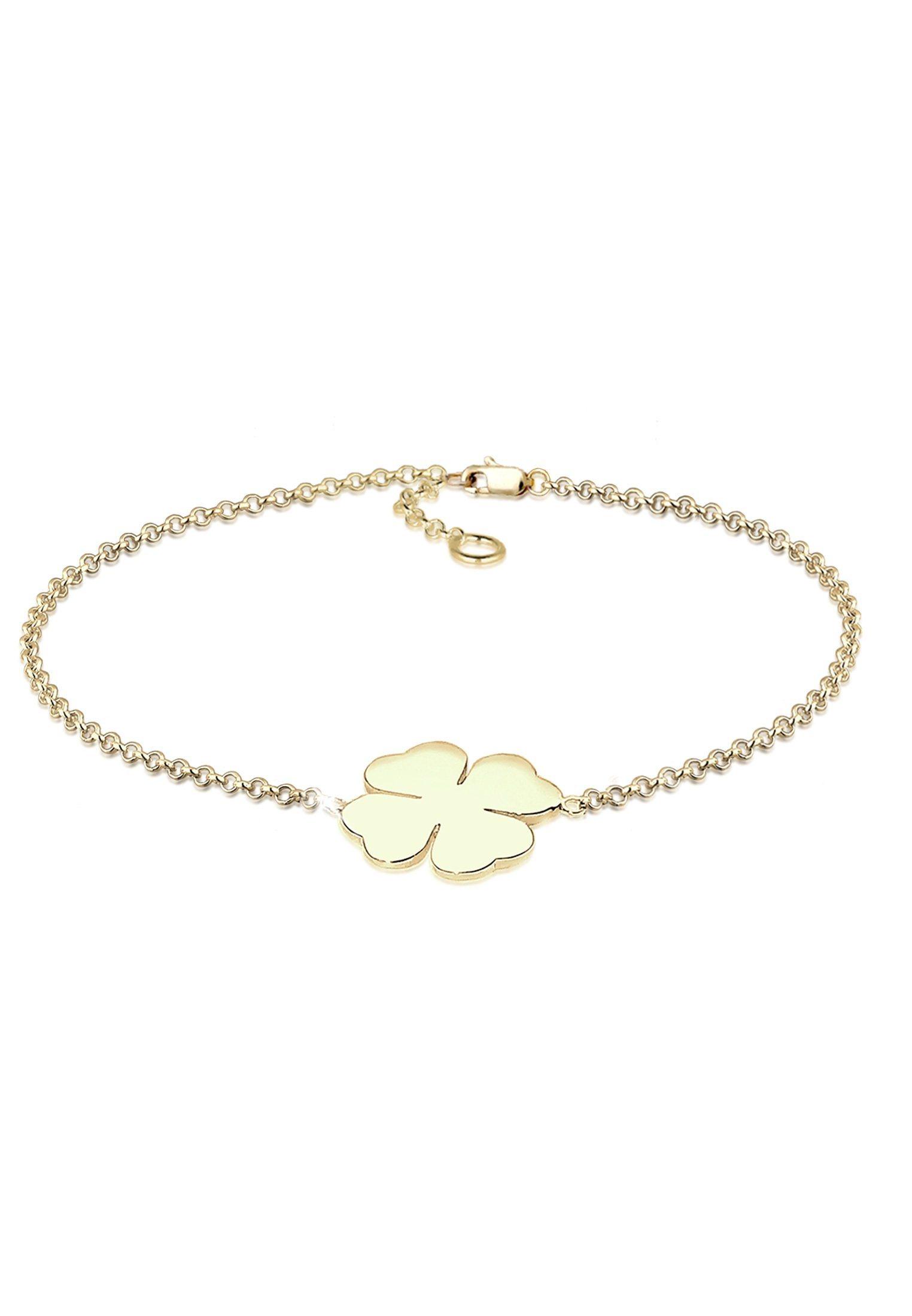 Elli Armband »Kleeblatt Glücksbringer 375 Gelbgold« | Schmuck > Armbänder > Goldarmbänder | Goldfarben | Elli