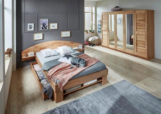 Home affaire Stauraumbett »Padua«, in Kernbuche oder Eiche inklusive Bettkasten