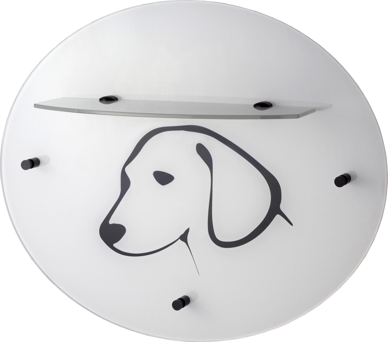 GGG MÖBEL Wandgarderobe »Hund« mit Glasablage