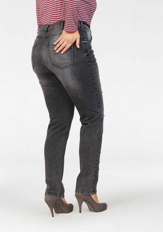 NoSecret Destroyed-Jeans mit modischen Vintage-Details | Bekleidung > Jeans > Destroyed Jeans | Schwarz | Denim | NoSecret