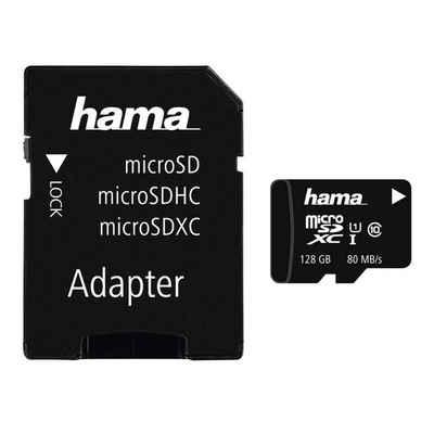 Hama microSDXC 128 GB Class 10 UHS-I 80MB/s + Adapter/Foto