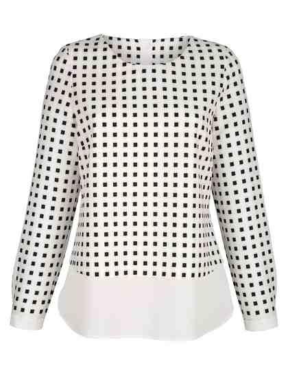 Alba Moda Bluse im modischen Layer-Look