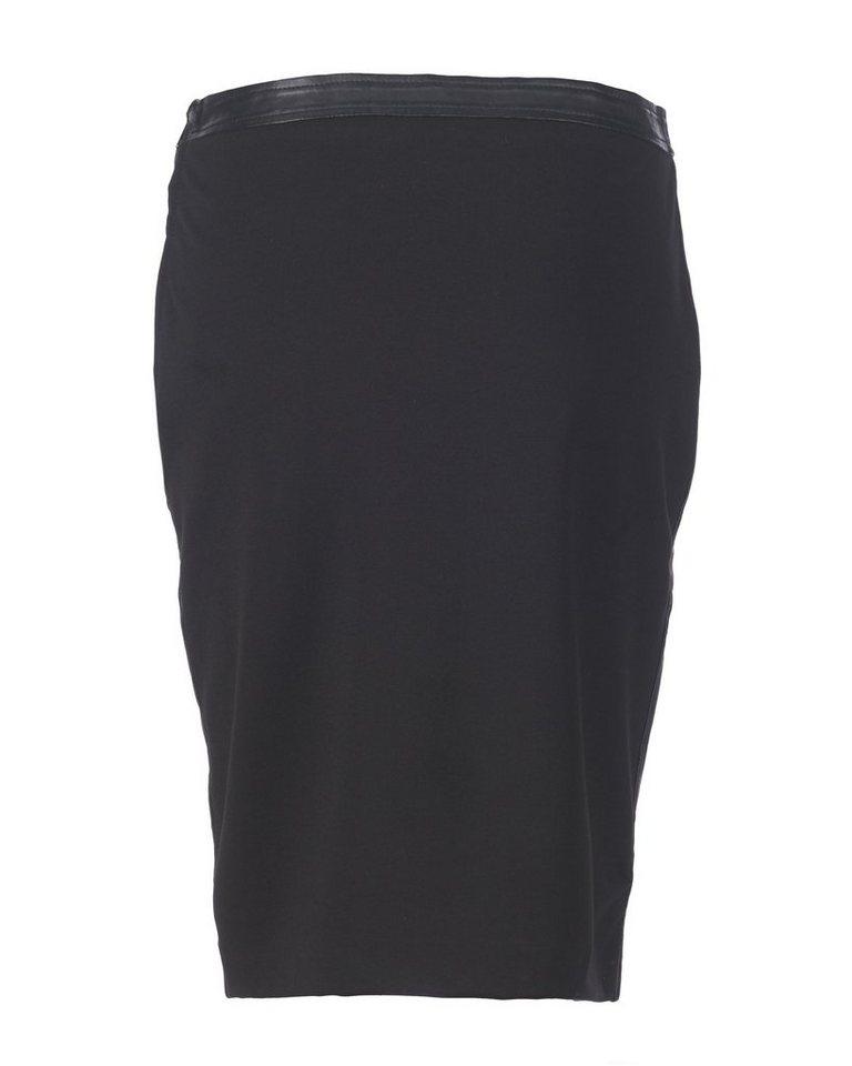 MAZE Lederrock mit elastischem Rückteil »Parla«   Bekleidung > Röcke > Lederröcke & Lederimitatröcke   Schwarz   Polyester - Elasthan   Maze