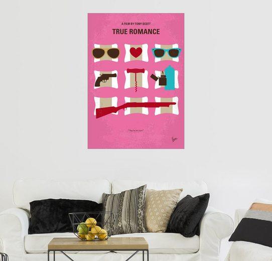 Posterlounge Wandbild - chungkong »No736 My True Romance minimal movie poster«