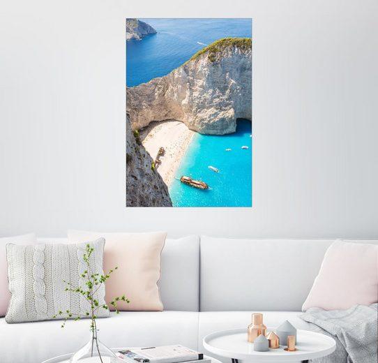 Posterlounge Wandbild - Matteo Colombo »Shipwreck-Strand auf Zakynthos«