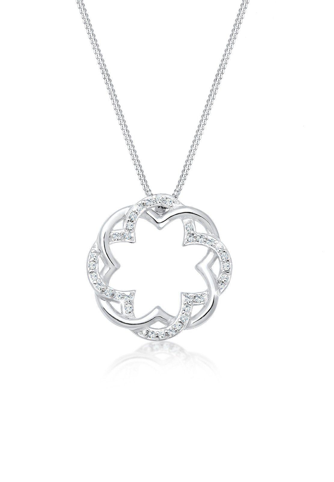 Elli Collierkettchen »Kleeblatt Swarovski® Kristalle 925 Silber Rond«