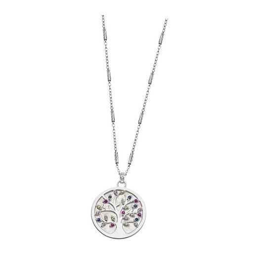 LOTUS SILVER Kette mit Anhänger »JLP1889-1-1 LOTUS Silver Lebensbaum Halskette« (Halsketten), Halsketten für Damen 925 Sterling Silber, farbig, silber