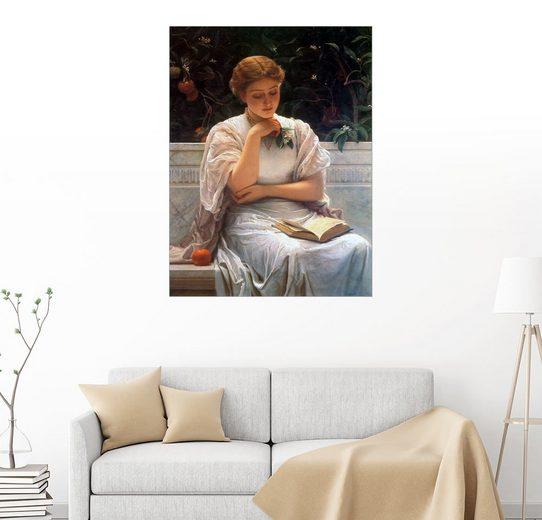Posterlounge Wandbild - Charles Edward Perugini »Mädchen lernt für das Studium«