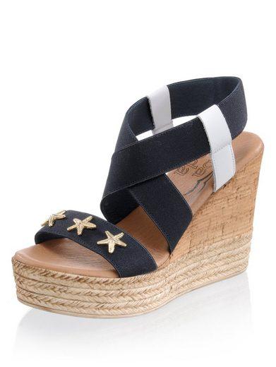 Alba Moda Sandalette aus elastischem Textil