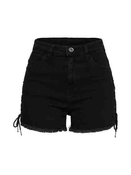 URBAN CLASSICS High-waist-Jeans Fransensaum