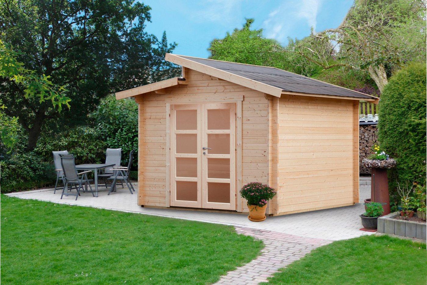 WOLFF FINNHAUS Gartenhaus »Bornholm 40-A Typ 5«, BxT: 330x280 cm, inkl. Fußboden | Garten > Bodenbeläge-Garten | Wolff