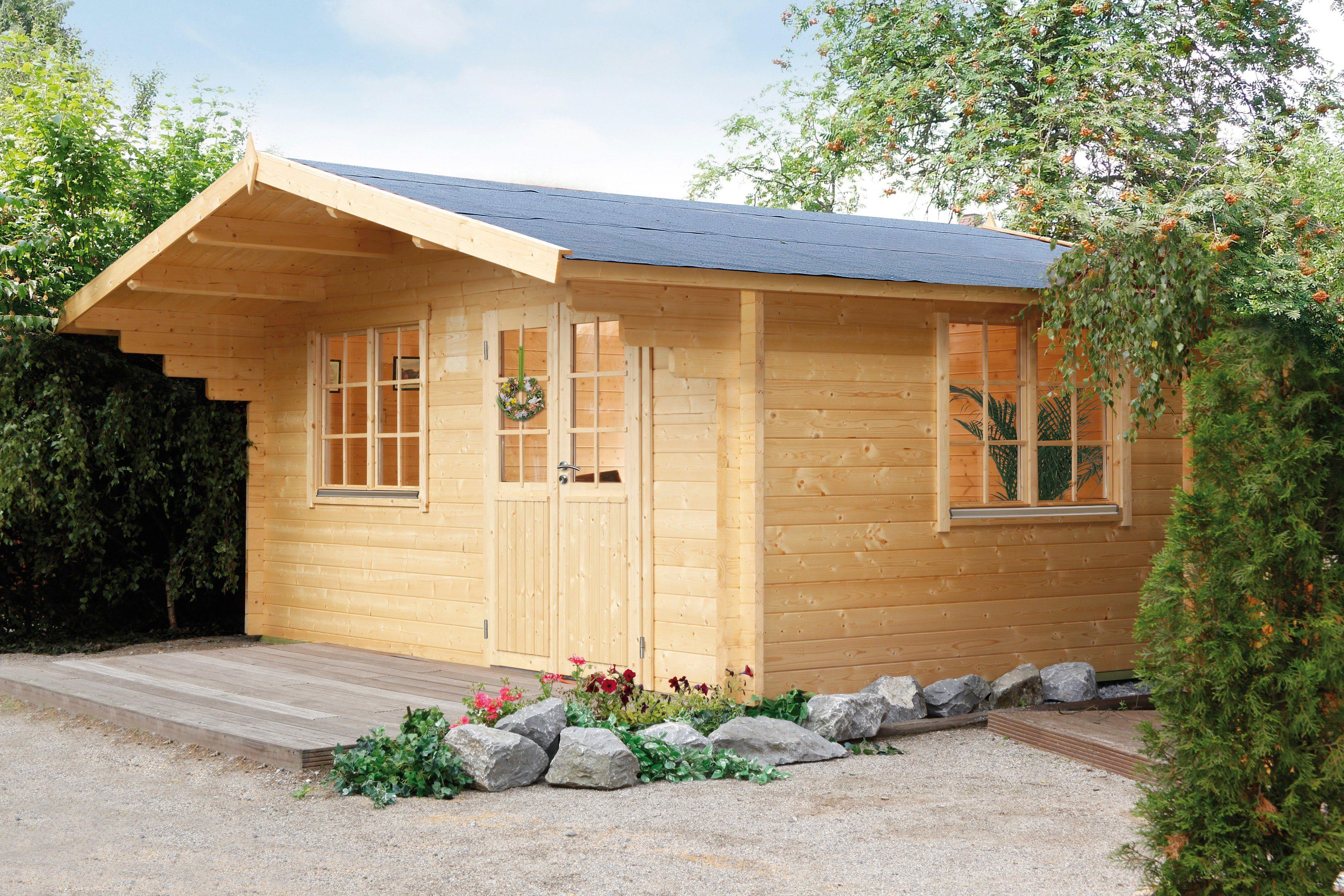 WOLFF Gartenhaus »Kim 44-B XL«, BxT: 528x600 cm, inkl. Fußboden