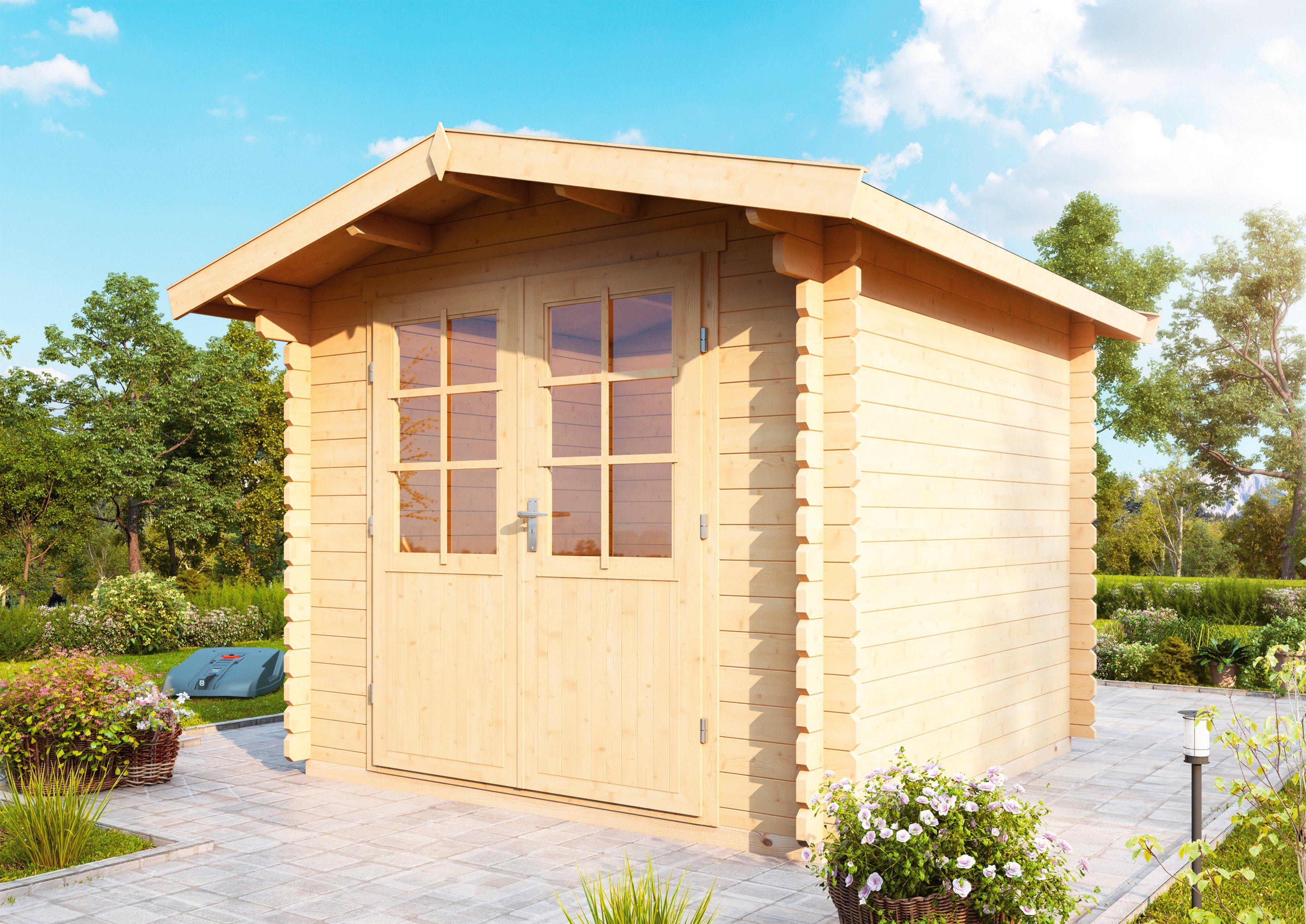 WOLFF Gartenhaus »Bibertal 28-XS«, BxT: 290x260 cm, inkl. Fußboden