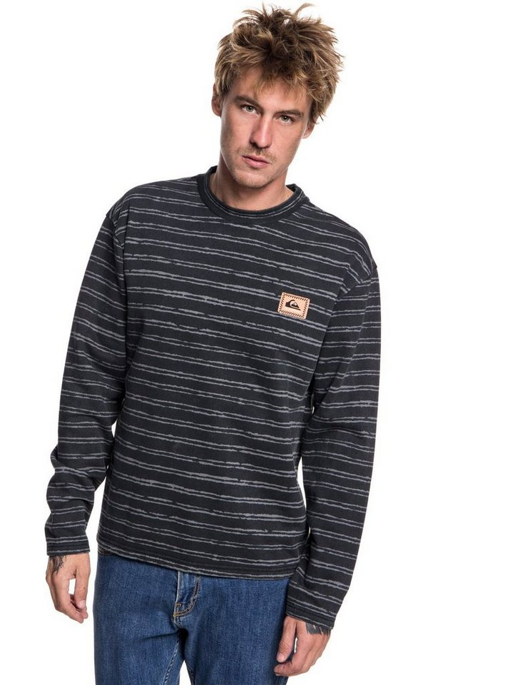 Herren Quiksilver Sweatshirt Early Faze schwarz | 03613373860842