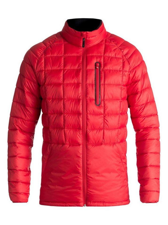 Herren Quiksilver Wasserdichte Jacke mit Reißverschluss Release rot | 03613373691279