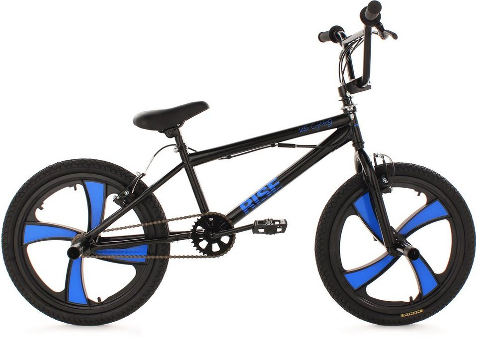 bmx fahrrad ks cycling rise schwarz 20 zoll v. Black Bedroom Furniture Sets. Home Design Ideas