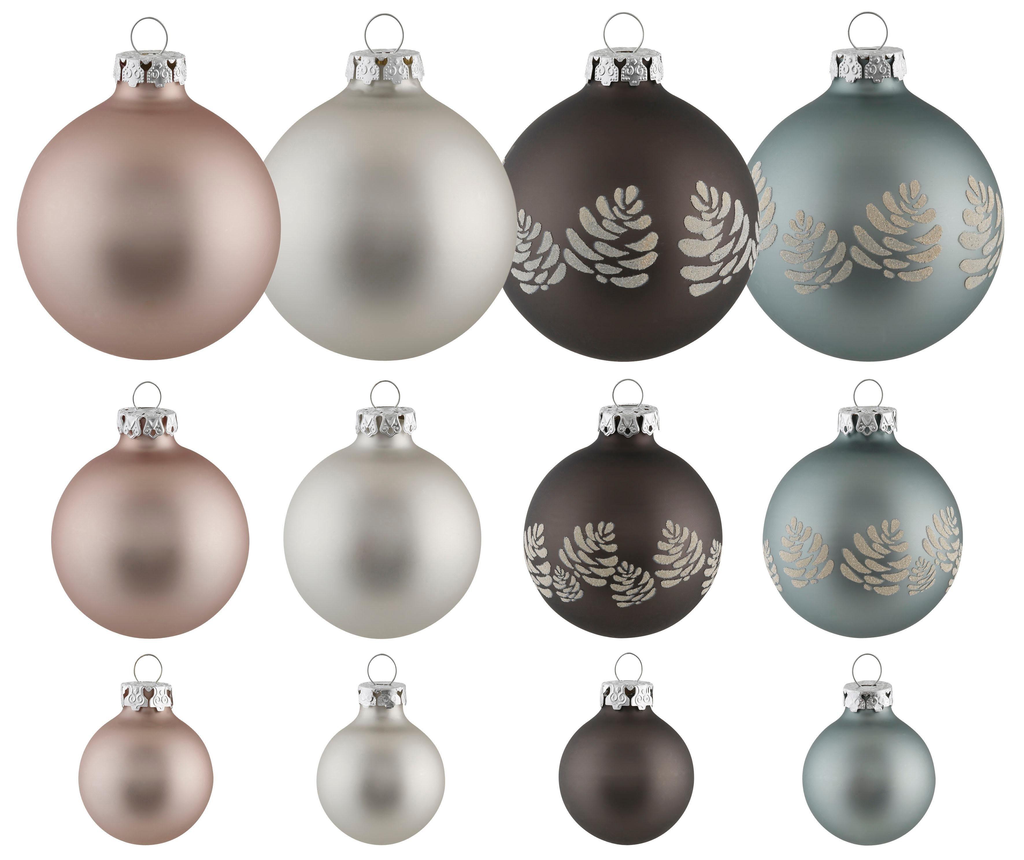Thüringer Glasdesign TGS-Weihnachtskugeln, Made in Germany, (30-teilig), »Raw Atmosphere«