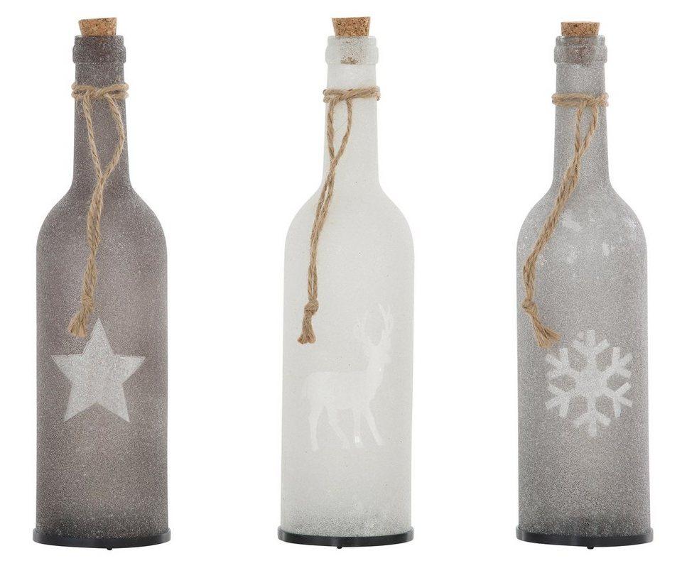 Led Deko Glasflaschen 3 Teilig Online Kaufen Otto
