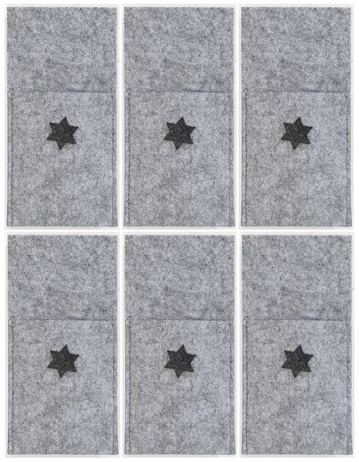Platzset, »Stern«, Dreams, (Set, 6-St), Bestecktasche, Filz