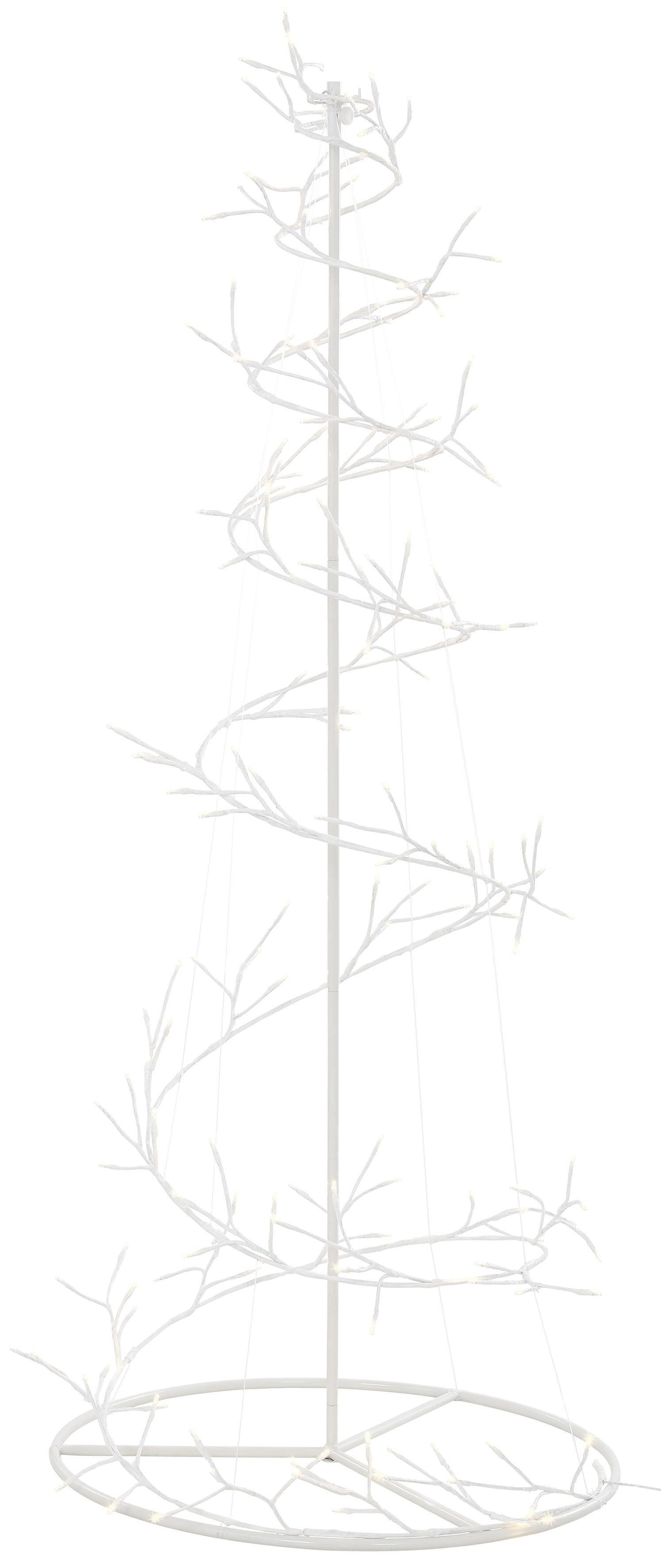 Beleuchteter Spiralbaum mit 160 LEDs, Höhe 150 cm