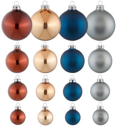 Thüringer Glasdesign Weihnachtsbaumkugel »Modern Rich« (40 Stück)