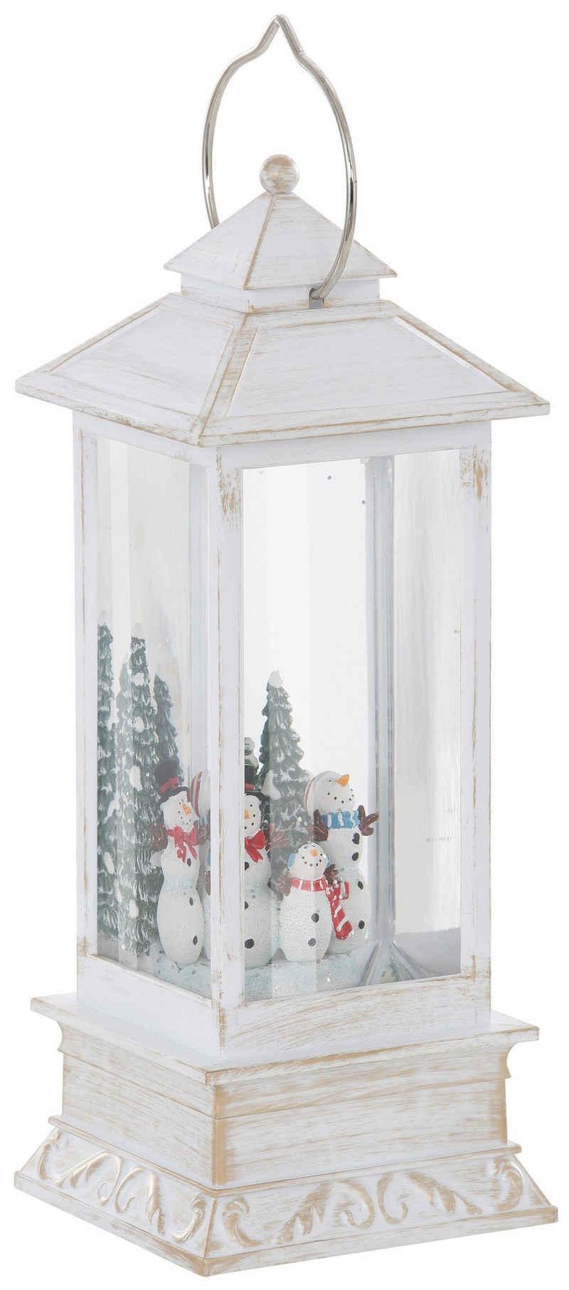 KONSTSMIDE LED Laterne »Schneemänner«, Höhe 27,5 cm