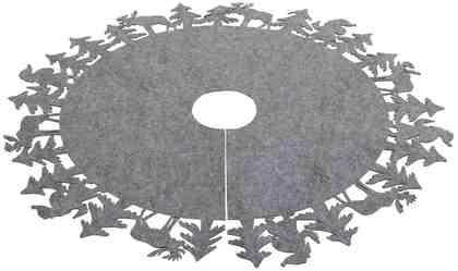 Christbaumdecke mit Walddekorrand