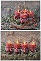 LED-Bild »Adventskerzen«, (Set, 2 Stück), batteriebetrieben, Bild 2